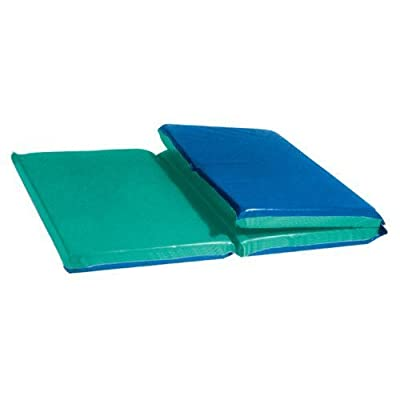"Two-Tone Deluxe Rest Mats - 2"" Thick, 24"" x 48"" Tri-Fold from US Toy & Constuctive Playthings"
