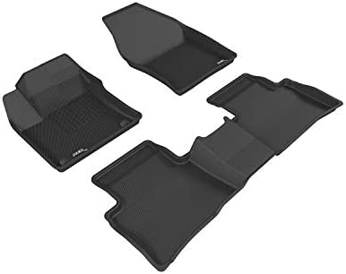 3D MAXpider Complete Set Custom Fit All-Weather Floor Mat for Select Toyota Prius/ Prius Prime Models – Kagu Rubber (Black)