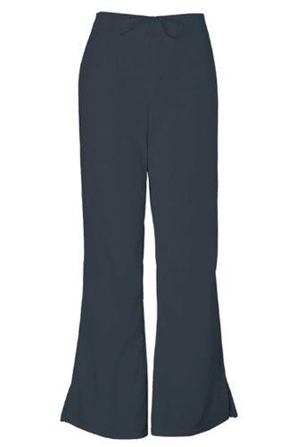 Cherokee Workwear Scrubs 4101 Tall Low Rise Flare Leg Scrub Pant (Pewter, 2XL-Tall) (Rise Low Leg Pant Flare)