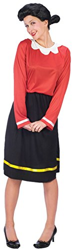 Olive Oyl Adult Costume - (Couples Halloween Costumes Popeye And Olive Oyl)