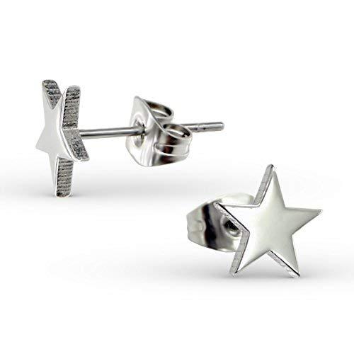 Amazon.com: Liara – Acero inoxidable Estrella zarcillos ...