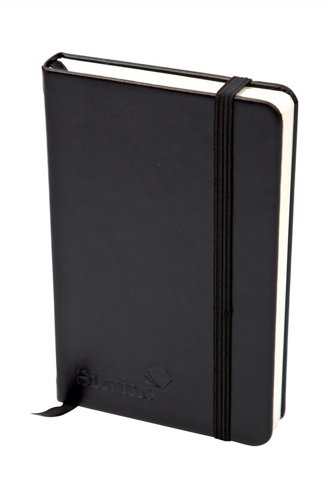 Silvine 391133 Executive Soft Feel Notebook Ruled with Marker Ribbon 160pp 90gsm A5 Black Ref 197BK