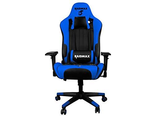 bluee Black Drakon Gaming Chair Ergonomic Racing Style Pu Leather Bucket Seat, Headrest and Massage Lumber Support, 4D Adjustable Armrest (orange Black)