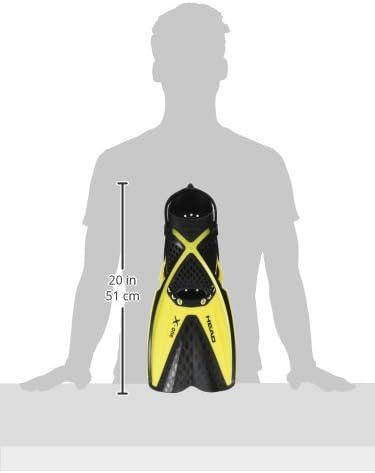 Self Adjust Buckle Free Snorkeling Swim Fins Mares Head X-One Snorkel Fin