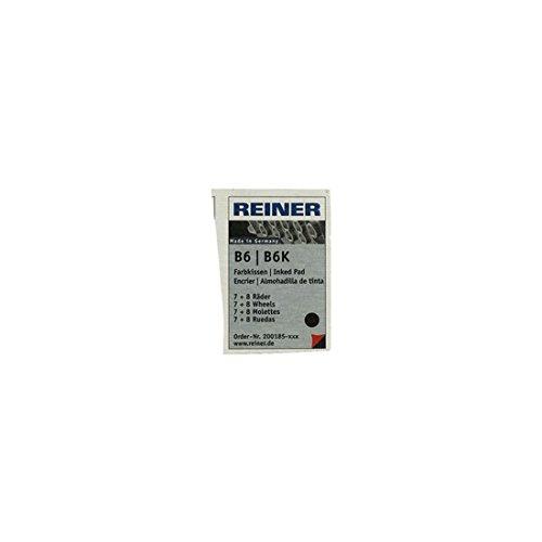 Reiner - Almohadilla B6K 8 tinta negra RB8KINK