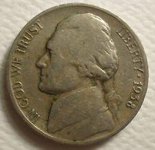 1938 Jefferson Nickel - 1938 D JEFFERSON NICKEL