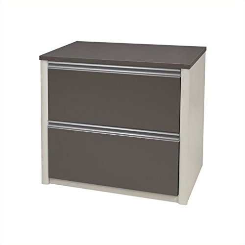 BESTAR Connexion Lateral File Drawer (Ready-To-Assemble), 30'', Slate/Sandstone by Bestar