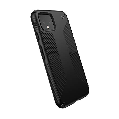 Speck Presidio Grip Google Pixel 4 Case, Black/Black