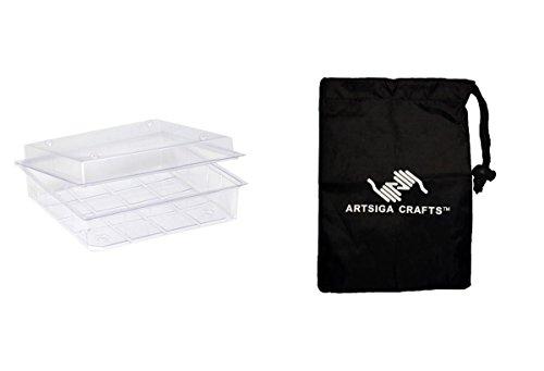 Darice Papercraft Storage Scrapbook Protect-n-Store Deep 12X12 Upc (36 Pack) 1204 99 bundled with 1 Artsiga Crafts Small Bag by Artsiga Crafts Darice Papercraft Storage