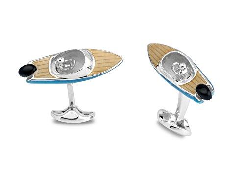 Deakin & Francis Sterling Silver Speed Boat Cufflinks by Deakin and Francis