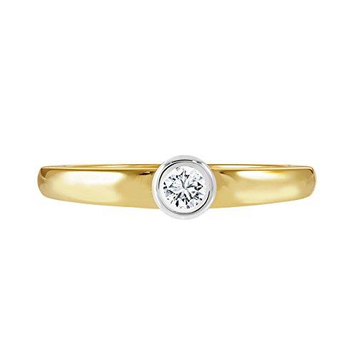 Diamond Line - Bague - Or 2 couleurs - Diamant - 117375
