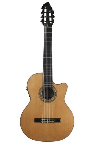 Kremona Fiesta CW-7 Cutaway/Electric 7-String Russian Classical Guitar 7 String Arch Top