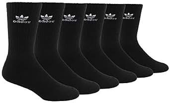 adidas Men's Athletic Cushioned Crew Socks (6-Pack) - Grey - 6-12