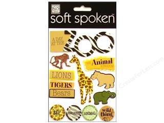 (Me & My Big Ideas Sticker Soft Spoken Zoo Scrapbook Stickers (SS558))