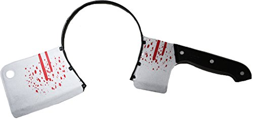 (Petitebella Halloween Costume Accessory Props Bloody Headband for Child Adult (Bloody Cleaver))