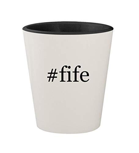 - #fife - Ceramic Hashtag White Outer & Black Inner 1.5oz Shot Glass