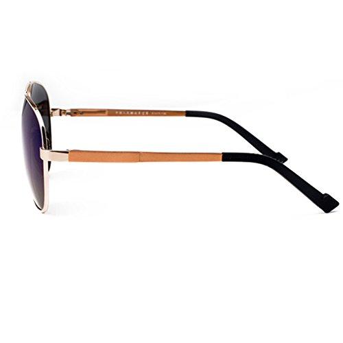 bleu foncé de soleil Lunettes UV400 polarisées homme pêche soleil objectif HD la lunettes vert montures métal en de polarisées Bleu 8RxZqwT8F