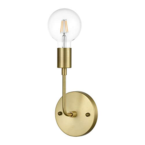 (Light Society LS-W265-BB Fulton Sconce in Brushed Brass, Modern Vintage Industrial Wall Lamp)