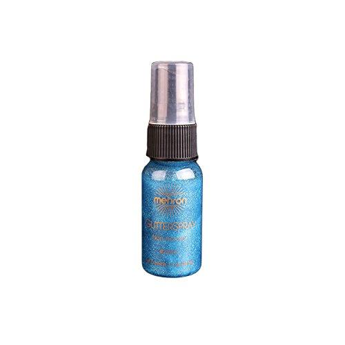 Mehron Professional Non-Aerosol GlitterSpray - Blue 1.0 Ounce (1 Ounce Aerosol)