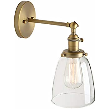 Pathson Vintage Wall Sconce with On Off Switch, Clear ...