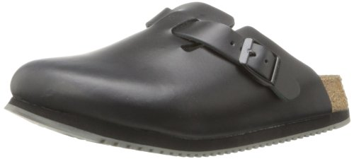 Birkenstock Unisex Professional Boston Super Grip Leather Slip Resistant Work Shoe,Black,45 M EU by Birkenstock