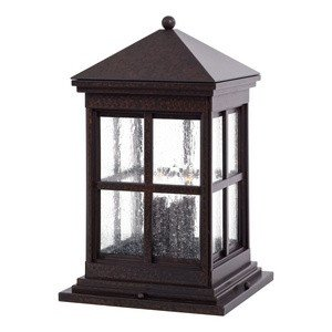 Minka Great Outdoors 8567-51 Berkeley - Four Light Outdoor Pier Mount, Rust Finish with Clear Seeded Glass