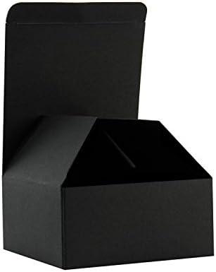 RUSPEPA 30 Pack 10.5 X 10.5 X 5.2Cm Cajas De Regalo Recicladas De Cartón Con Tapas Para Pulseras, Joyas Y Pequeños Regalos (Negro)