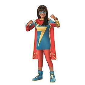 - 31uzLubeT 2BL - Girls Marvel Rising Secret Warriors Ms. Marvel Costume