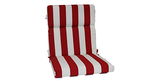 Brentwood Originals 35590 Indoor/Outdoor Chair Cushion, Cabana Red (Furniture Patio Brentwood)