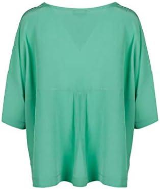 MALÌPARMI Fashion Woman JM44003004460023 Green Silk Blouse | Spring Summer 20