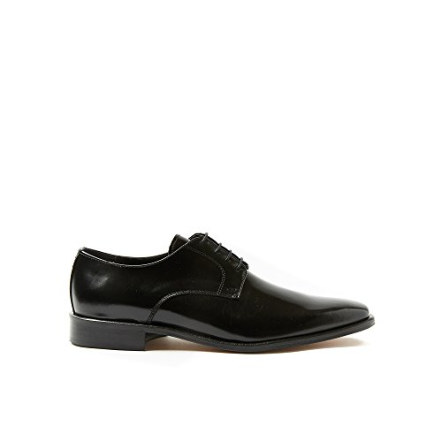 Classique Toe-Squared Chaussures Hommes en Cuir Made in Italy Noir gk5mTQ