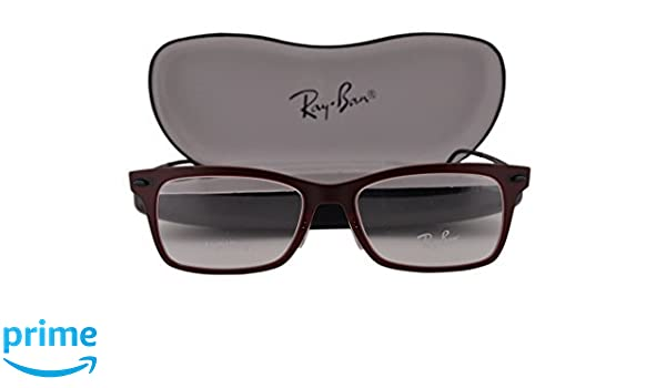 11b7efc6b0 Amazon.com  Ray-Ban RX7039 Eyeglasses 51-18-140 Matte Dark Red w Demo Lens  5456 RX 7039 RB 7039 RB7039  Clothing