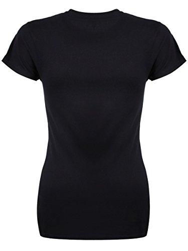 Damen T-Shirt Otter Space schwarz