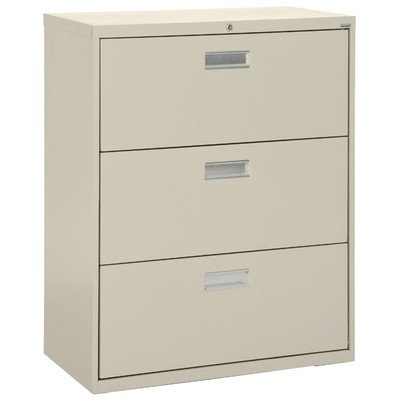 Sandusky Lee LF6A363-07 600 Series 3 Drawer Lateral File Cabinet, 19.25'' Depth x 40.875'' Height x 36'' Width, Putty by Sandusky