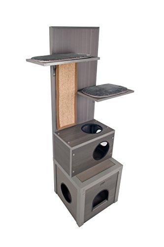 ecoFLEX Kitty Klimber - Cat Tree - Grey (Pvc Cat Tower)