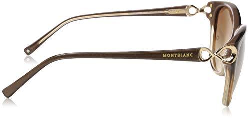 57 brown Marron 0 Mont Femme Montures De Blanc Lunettes wqnnpZva0