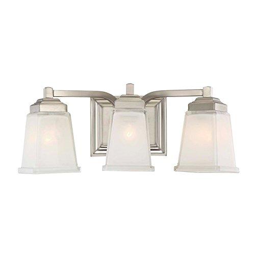 Elloree 3-Light 6.75-in Brushed Nickel Square Vanity Light