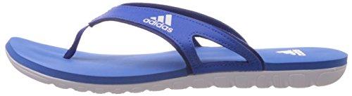 adidas Men's 5 M Calo 5 M Flip Flops-Blue/White, Size 10 Blue/White