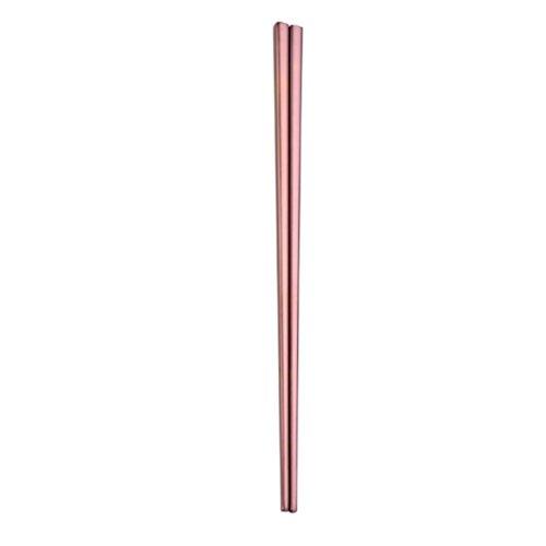 Oksale 1 Pair Stainless Steel Tableware Colorful Length 23cm Chopsticks (Rose Gold)