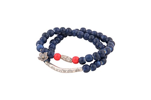 Ceramic Hand Made Porcelain Bracelet (Dark Blue)