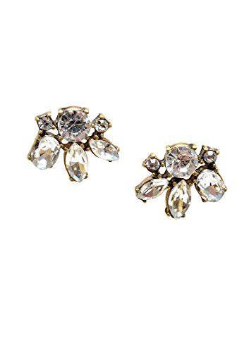 [Rhinestone Statement Earrings in Clear Color | Delicate Stud Earrings nickel free] (Unique Costume Ideas For Teenage Girls)