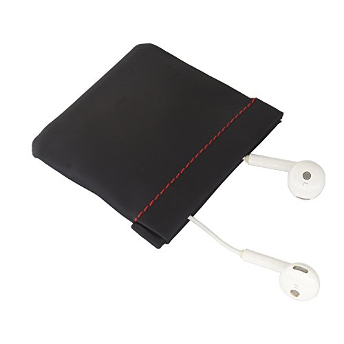 Pouch Snap - EVNSIX Earbud Case Organizer Pouch Bag Earphone Coin Purse for Women Men,Spring Frame Close,Soft PU Leather(2 Pack)