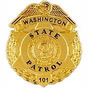 Metal Lapel Pin - US 50 State Police Badge Pin Collection - Washington State Patrol