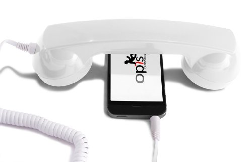 (OPIS 60s MICRO: retro handset/vintage handset/retro receiver/mobile handset for iPhone, Galaxy, Huawei and all modern smartphones)