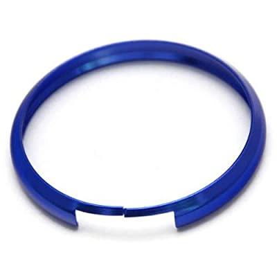 iJDMTOY Blue Finish Smart Key Fob Replacement Ring Compatible With 08-up Mini Cooper JCW R55 R56 R57 R58 R59 R60: Automotive