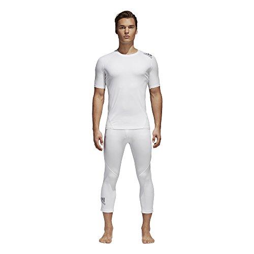 adidas Mens Training Alphaskin Sport 3/4 Tights, White, Large