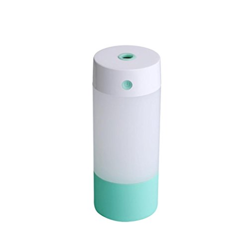 Vibola Anion Humidifier Personal Air Humidifying Unit Small Portable for Bedroom 250 ML Water Tank Mini Humidifiers for Baby Room or Office (Mint Green)
