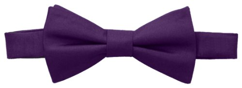 Tommy Hilfiger Mens Core Solid Bow Tie Purple One Size