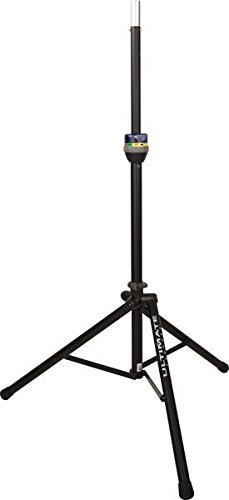 Ultimate Support TS-90B TeleLock Series Lift-assist Aluminum Speaker Stand with Integrated Speaker Adapter by Ultimate Support