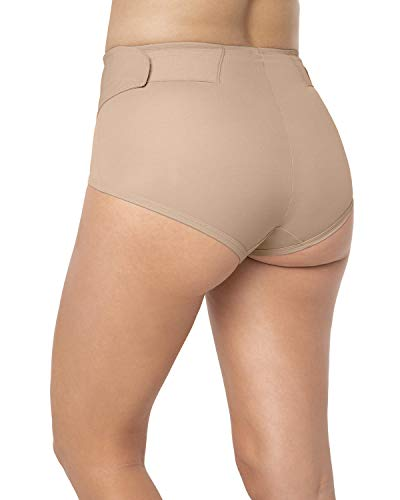 Leonisa Postpartum Girdle High Waist Panty with Adjustable Belly Wrap for Women Beige